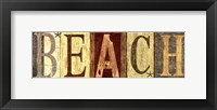 Framed Weathered Beach Sign