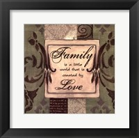 Framed Sage/Cream...Family