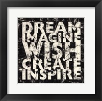 Marble Dream Wish Inspire Framed Print