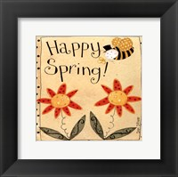 Spring Bumble Bee Framed Print