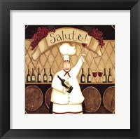 Framed Salute Chef