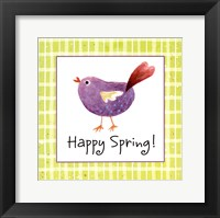 Purple Chick Framed Print