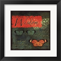 Framed Butterfly Sentiments...Wisdom