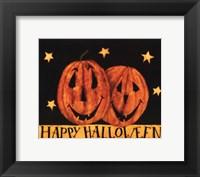 Framed Happy Halloween Pumpkins