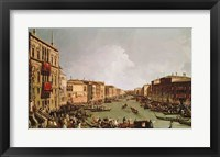 Framed Regatta on the Grand Canal