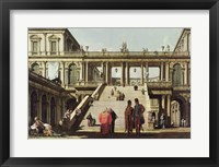 Framed Castle Courtyard, 1762