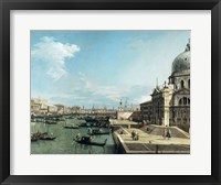 Framed Entrance to the Grand Canal and the church of Santa Maria della Salute, Venice