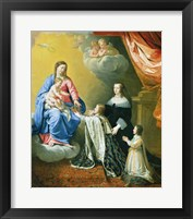 Framed Virgin Mary gives the Crown and Sceptre to Louis XIV, 1643