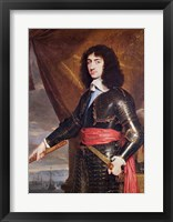 Framed Portrait of Charles II