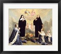 Framed Anne of Austria and her Children at Prayer