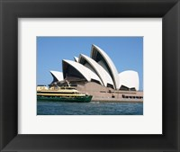 Framed Sydney Opera House with Sydney Ferry Collaroy