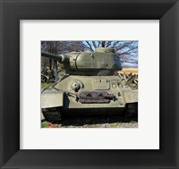 Framed World War Two Tank