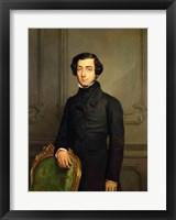 Framed Charles-Alexis-Henri Clerel de Tocqueville