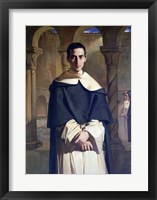 Framed Portrait of Jean Baptiste Henri Lacordaire