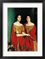 Framed Two Sisters
