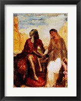 Framed Othello and Desdemona in Venice, 1850