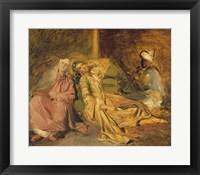 Framed Study for the Interior of a Harem