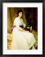 Framed Portrait of Miss Dorothy Dicksee
