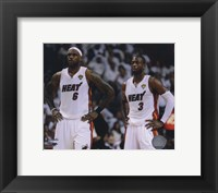 Framed Lebron James & Dwyane Wade Game 2 of the 2011 NBA Finals Action(#10)