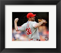 Framed Cliff Lee 2011 Action