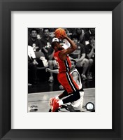 Framed Dwyane Wade Game 3 of the 2011 NBA Finals Spotlight Action(#21)