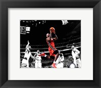 Framed LeBron James Game 3 of the 2011 NBA Finals Spotlight Action(#20)