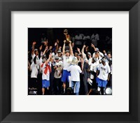 Framed Dallas Mavericks Celebrate Winning the Game 6 of the 2011 NBA Finals