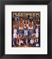 Framed Dallas Mavericks 2011 NBA Finals Championship Composite
