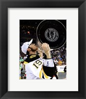 Framed Tyler Seguin with the Stanley Cup  Game 7 of the 2011 NHL Stanley Cup Finals(#49)