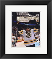 Framed Patrice Bergeron with the Stanley Cup  Game 7 of the 2011 NHL Stanley Cup Finals(#45)