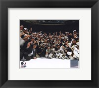 Framed Boston Bruins Celebrate Winning Game 7 of the 2011 NHL Stanley Cup Finals
