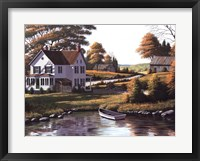 Along the Riverbank Framed Print