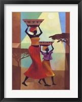 Mother's Helper Framed Print