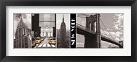 A Glimpse of NY Framed Print
