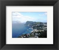 Framed Aerial view of Capri Harbour