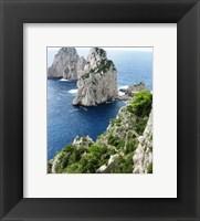 Framed Capri Faraglioni Stacks