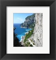 Framed Capri Coastline Photograph