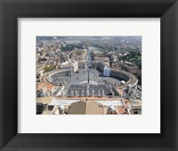 Framed Vatican View From Above