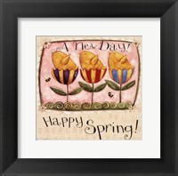 Spring Chick Tulips Framed Print