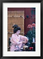 Framed Geisha, Tokyo, Honshu, Japan