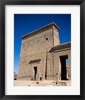 Framed Philae Temple, Aswan, Egypt
