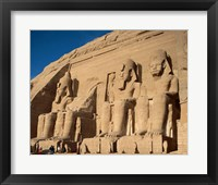 Framed Temple of Ramses II, Abu Simbel, Egypt