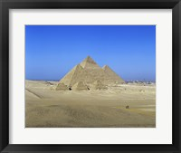 Framed Giza Pyramids, Giza, Egypt (far view)