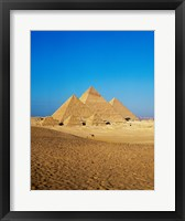 Framed Giza Pyramids, Giza, Egypt (far away)