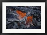 Framed Kilauea Lava Flow Kalapana Hawaii USA