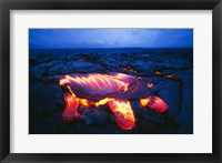 Framed Kilauea Volcano Hawaii Volcanoes National Park Hawaii USA