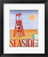 Beach Watch I Framed Print