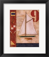 Model Yacht Collage I Framed Print