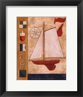 Model Yacht Collage III Framed Print