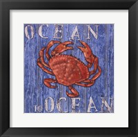 Coastal USA Red Crab Framed Print